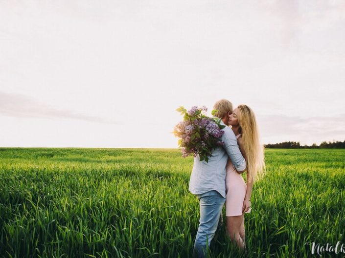 Love story, Природа, Осень, молодая пара, лав стори, зеленое поле