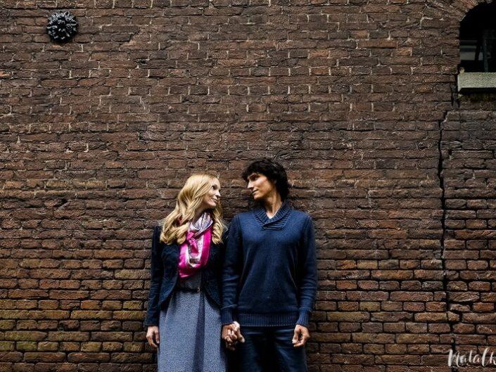 Love story, Голландия, Старый Город, молодая пара, лав стори,, кирпичи