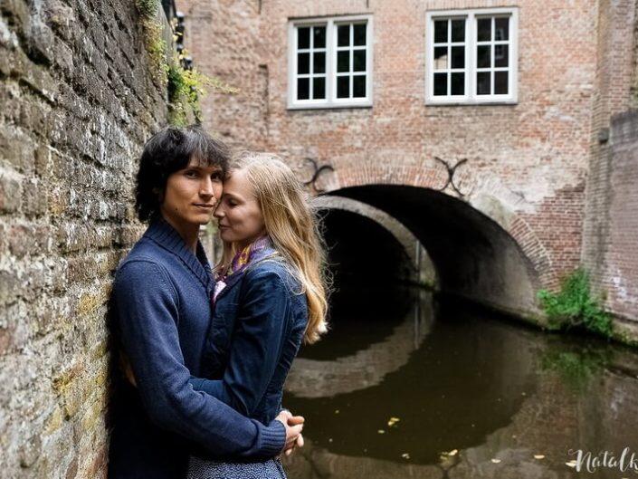 Love story, Голландия, Старый Город, молодая пара, лав стори,, канал, тунель